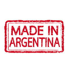 made in argentina stamp text vector image