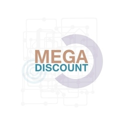 Mega Discount Discount sticker Offer sticker vector image