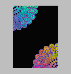 multicolored abstract floral mandala brochure vector image