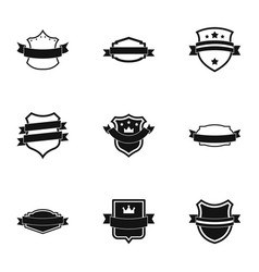 Norm icons set simple style vector