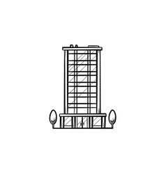 office building hand drawn outline doodle icon vector image