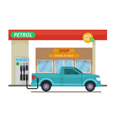 Petrol or diesel station in vector