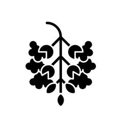 Poplar tree pollen black glyph icon vector