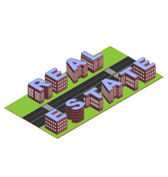 real estate buildings vector image