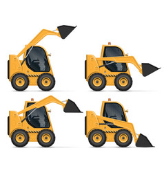 realistic skid steer loader vector image