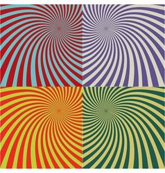 Retro rays background set 2 vector