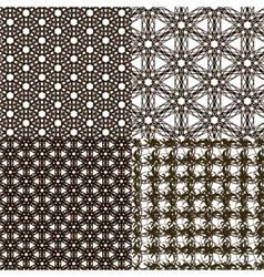 Set abstract vintage geometric wallpaper pattern vector