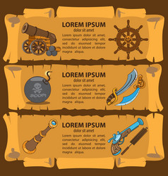Set of banners imitating ancient papyrus three vector