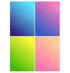 set of color background design vector image
