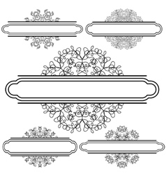 Set of Different Flourishes vector image