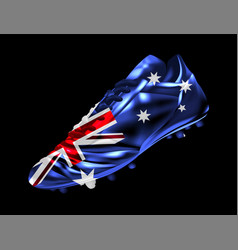 Soccer football boot with the flag of australia vector