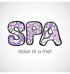 SPA Word on White Background vector