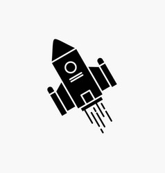 Space craft shuttle space rocket launch glyph vector