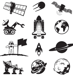 Space programme set vector image