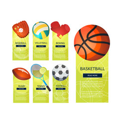 Sports vertical banners vector