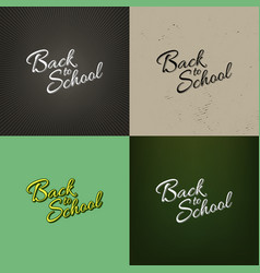 stock set calligraphy back to vector image