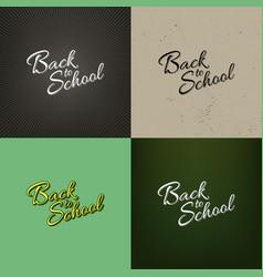 Stock set calligraphy back vector