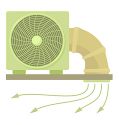 System fan and pipe icon cartoon style vector