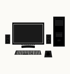The computer icon vector