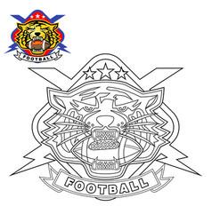 tiger head logo with lightning vector image