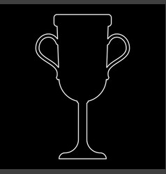 Trophy cup the white path icon vector