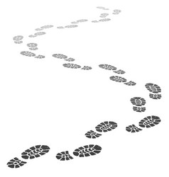 Walking away footsteps outgoing footprint vector