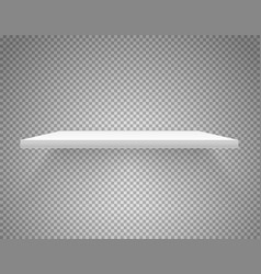 White shelf isolated on transparent background vector