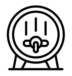 Wine barrel icon outline style vector