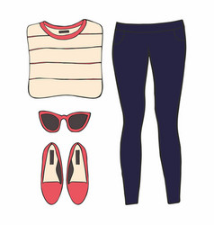 With womens clothes vector