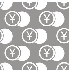 Yen coin seamless pattern vector