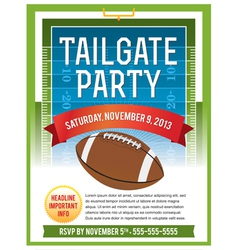 American Football Tailgate Party Flyer vector image