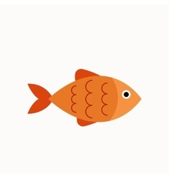 Aquarium fish flat icon vector image vector image