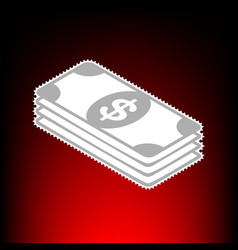 bank note dollar vector image vector image