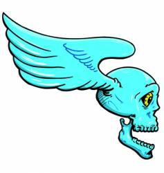 flying skull with wings illustration vector image