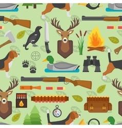 Hunting symbols seamless pattern vector image vector image