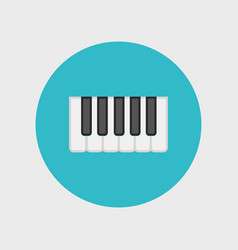 octave piano keys icon vector image