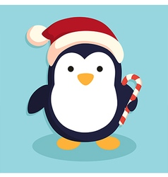 Penguin with Santa Hat vector image