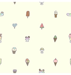 Seamless of colorful tasty ice cream vector image