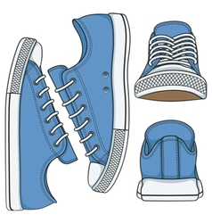 Set of with colored sneakers vector image