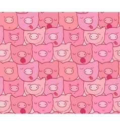 The pattern of the muzzles of piglets vector image vector image