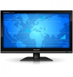 widescreen tft display vector image vector image