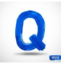 Alphabet Letter Q Watercolor Alphabet vector image vector image