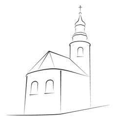 church symbol vector image vector image