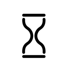 hourglass icon symbol of time history and vector image vector image