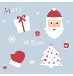 Set of Christmas symbols New Year theme vector image vector image
