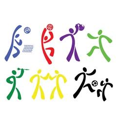 sport disciplines vector image vector image
