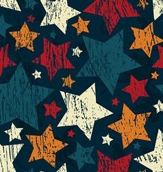 grunge star seamless pattern vector image
