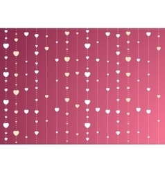 Pink and purple St Valentines background with vector image