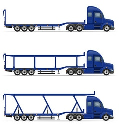 semi truck trailer 18 vector image