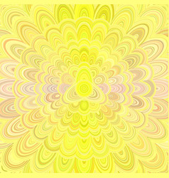 yellow abstract flower mandala design background vector image vector image